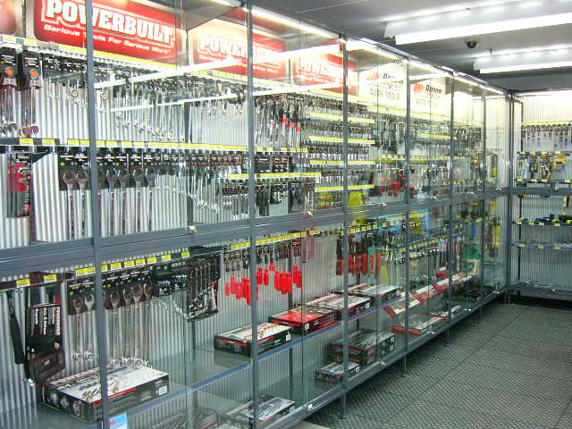 Steel shelving (retail)